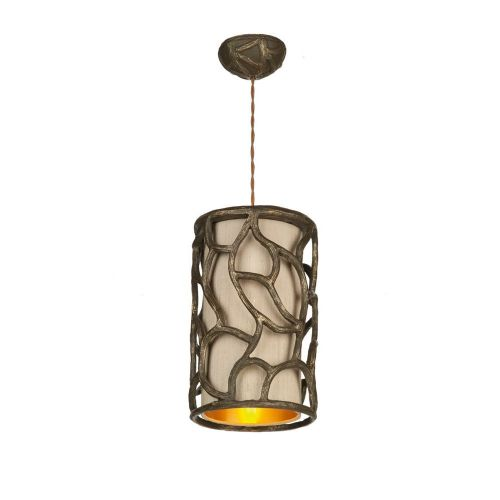 Lyra  Pendant Gold/Cocoa + Taupe Silk Shade S1000/Gd, LYR8631 (7-10 day Delivery) (Double Insulated)